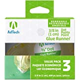 Adtech 5611 Removable Adhesive Dots Glue Runner, 3 Pack (Tamaño: Removable dot glue)