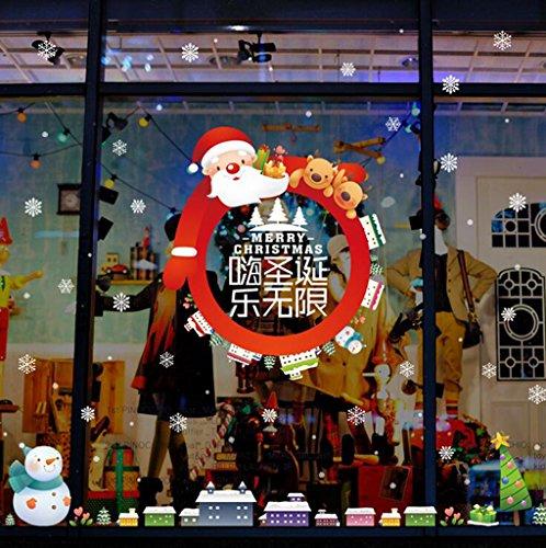 Natale,soggiorno,camera,camera da letto,finestra,decorate in,porta in vetro,adesivo , Wall Sticker