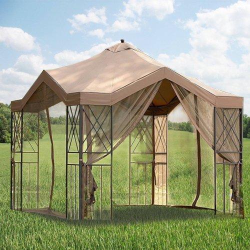 Backyard Gazebo Canopy : Deluxe Pagoda Gazebo Replacement Canopy  Gazebos  Patio and