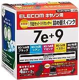 ELECOM 詰め替えインク キヤノン BCI-7E・9BK対応 5色セット 4回分 リセッター付 2011 THC-MP610SETN2