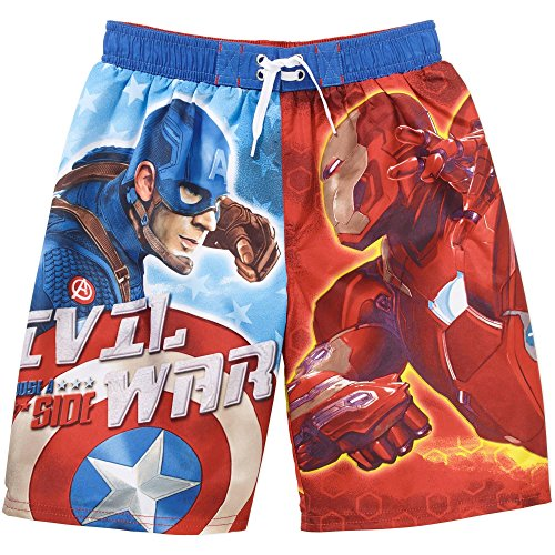 Marvel Boys Avengers Swim Trunk,Civil War,size 8 (Boys Swim Trunks Marvel compare prices)