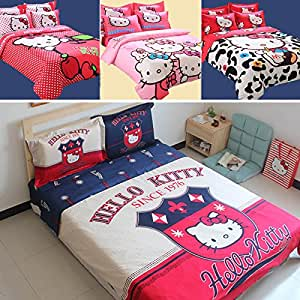 Amazon HELLO KITTY queen size bedding set twin full