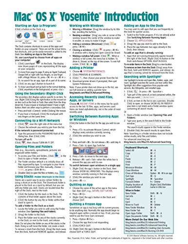 Download Mac OS X Yosemite Introduction Quick Reference Guide (Cheat Sheet of Instructions, Tips & Shortcuts - Laminated Guide)