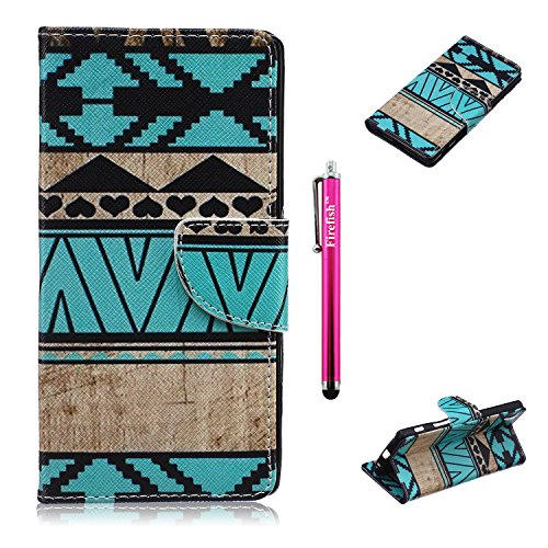 [Sony Xperia Z5 Case, Firefish Kickstand Feature Case Premium PU Leather Wallet [Card Slots] Scratch-Resistance Specially Design for Sony Xperia Z5 -] (Homme Costume National)