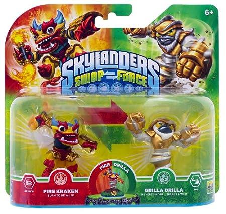 Skylanders Swap Force - Double Pack 4 - Grilla Drilla, Fire Kraken [Importación Alemana]