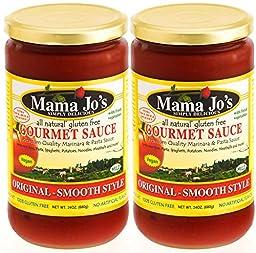 Mama Joe\'s Delicious Gourmet Sauce - Original Mild. All Natural Gluten Free. NO High Fructose Corn Syrup Low Sodium Marinara Spaghetti Pasta Ravioli Rice Potatoes Meatball etc 2 Pack - 24oz Big Jars