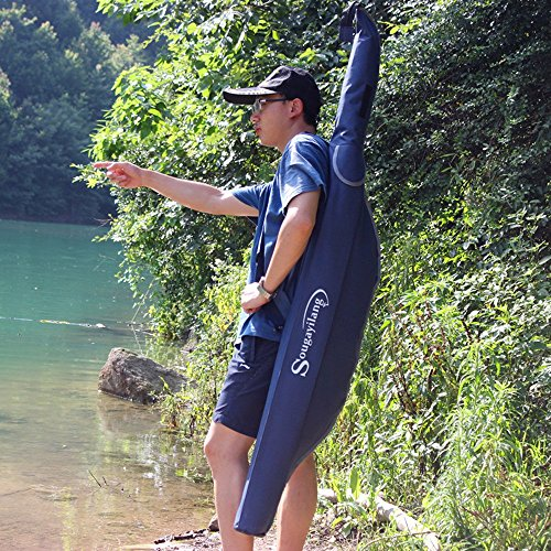 Sougayilang-Folding-Portable-Waterproof-Double-layer-Blue-Fishing-Rod-Carrier-Canvas-Fishing-Pole-Tools-Storage-Bag-Case-Fishing-Gear-Organizer