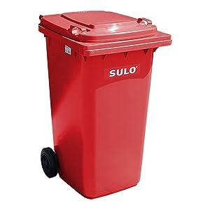 Sulo Müllgroßbehälter 240 liter, Rot    Kundenbewertung und Beschreibung