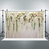 Cdcurtain Bridal Floral Wall Backdrop Wedding 3D Rose 10x8ft Reception Ceremony Photography Background Photo Birthday Party Dessert Table Photo Shoot Backdrop Vinyl Cloth (Color: Bridal Floral Wall, Tamaño: 10x8ft)