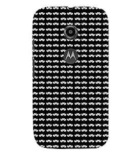 TOUCHNER (TN) Moonch Pattern Back Case Cover for Motorola Moto E2::Motorola Moto E (2nd Gen)