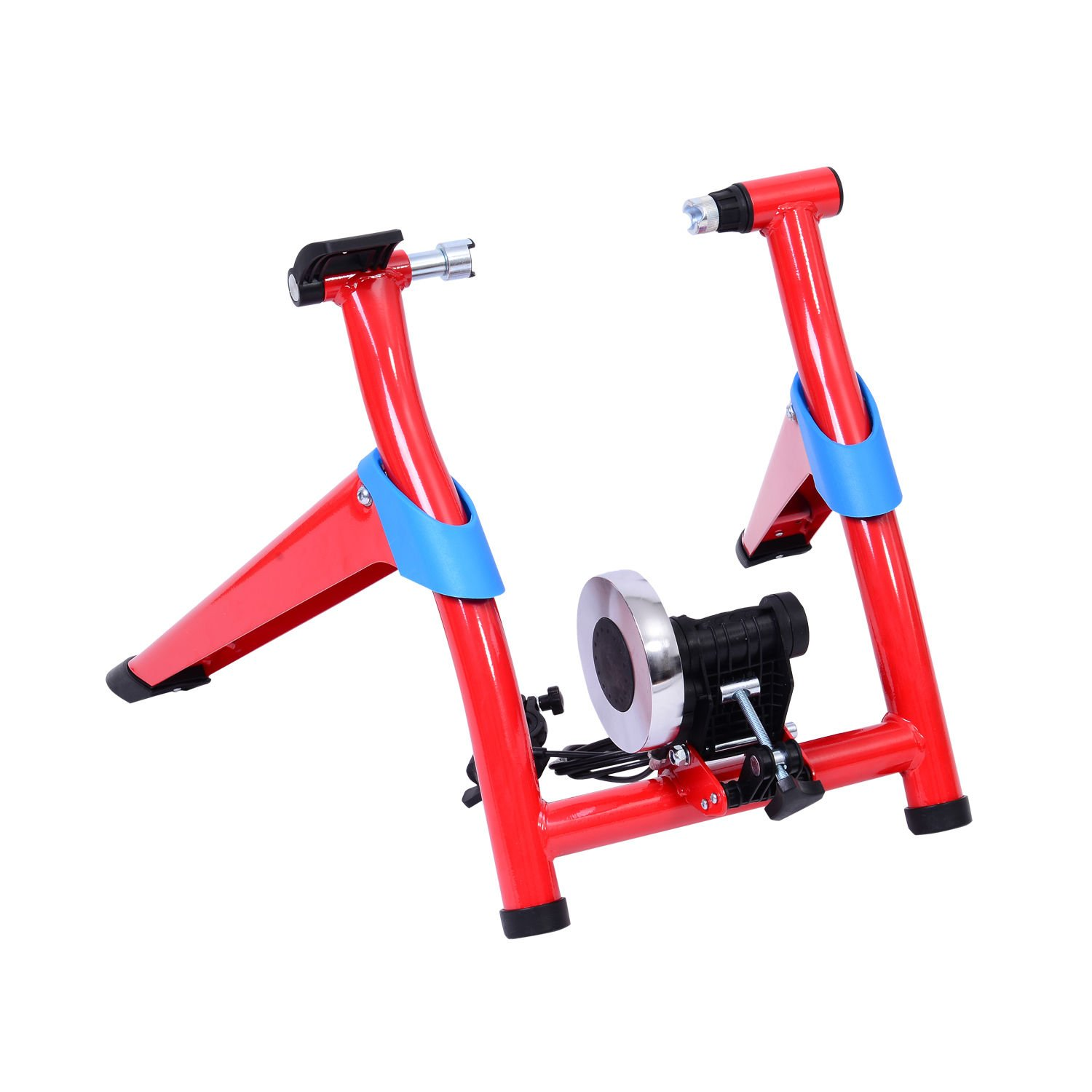 Globe House Products GHP Red 8 Speed Magnetic Indoor Workout Bike Resistance Trainer Exercise