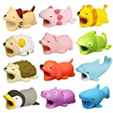 Bite Cable 12 Pack Cable Bites Animals Protector for iPhone/iPad Charging Cable Buddies Dog Penguin Axolotl Pig Dragon Hippo Phone Accessories by FUNZON (Color: 12 Pack)