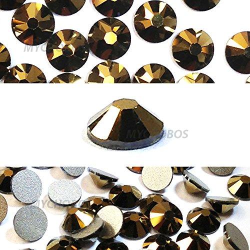 CRYSTAL DORADO (001 DOR) gold Swarovski NEW 2088 XIRIUS Rose 34ss 7mm flatback No-Hotfix rhinestones ss34 18 pcs (1/8 gross) *FREE Shipping from Mychobos (Crystal-Wholesale)*