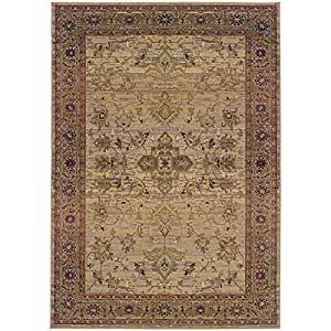 Luxor traditional 2 39 3 x 4 39 5 beige area rug for Traditional kitchen rugs