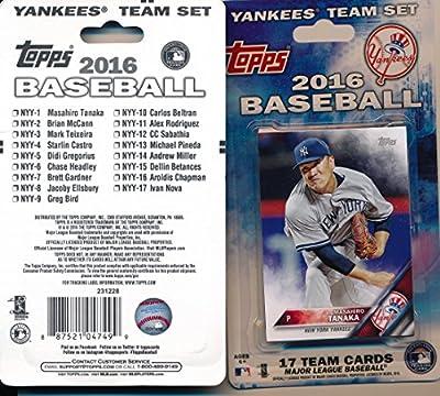 New York Yankees MLB 2016 TOPPS Team Set