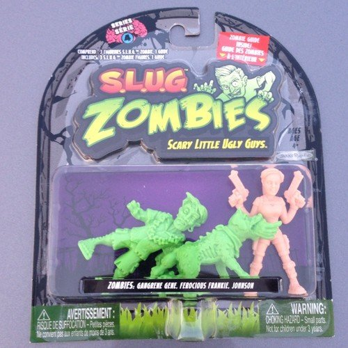 S.L.U.G. (Slug) Zombies Figures 3-Pack (Series 4) Gangrene Gene, Ferocious Frankie, Johnson