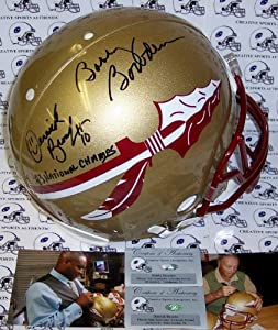 Bobby Bowden & Derrick Brooks Hand Signed Florida State Seminoles Authentic...