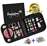 Best Compact Sewing Kit for Home, Travel, Camping & Emergency with Extra 50 Pins and 50 Safety Pins. Perfect Gift for Beginners, Kids, Girls, Boys & Adults. Professional Premium Sew Supplies Set.