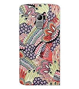PrintDhaba Floral Pattern D-2067 Back Case Cover for LENOVO VIBE K4 NOTE (Multi-Coloured)