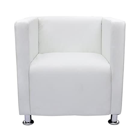 vidaXL Lounge Sessel Clubsessel Cocktail Stuhl Relax Couch weiß
