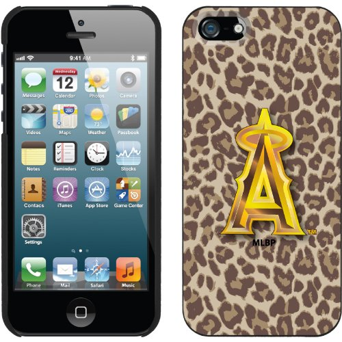 Great Price LA Angels of Anaheim - Leopard Print design on a Black iPhone 5s / 5 Thinshield Snap-On Case by Coveroo