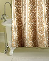 Ivory & Beige victorian satin faux silk shower curtain ( 72