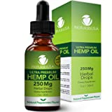 Hemp Oil by NatulabUSA - Fast Results - Relieve Chronic Pain - Ultra Premium Hemp Extract - Pure Hemp Seed Oil - Better Sleep - Healthier Skin - Smoother Hair - 250mg - 1oz- Natural Peppermint Flavor (Tamaño: 1 Oz)