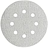 Bosch SR5W000 5-Inch Hook & Loop Sanding Disc, 8-Hole, White, 60/120/240 Assorted Grits, 6 Pack
