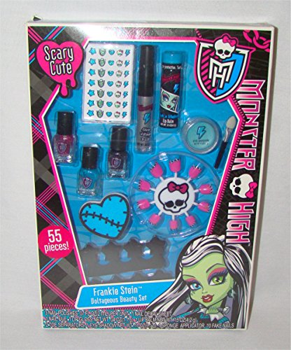 Monster High Makeup Set-Frankie Stein Voltageous Beauty Set 55 Pieces
