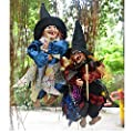1PCS Halloween Decoration Props Prank Toy Sound Control Hanging Witch Color Random