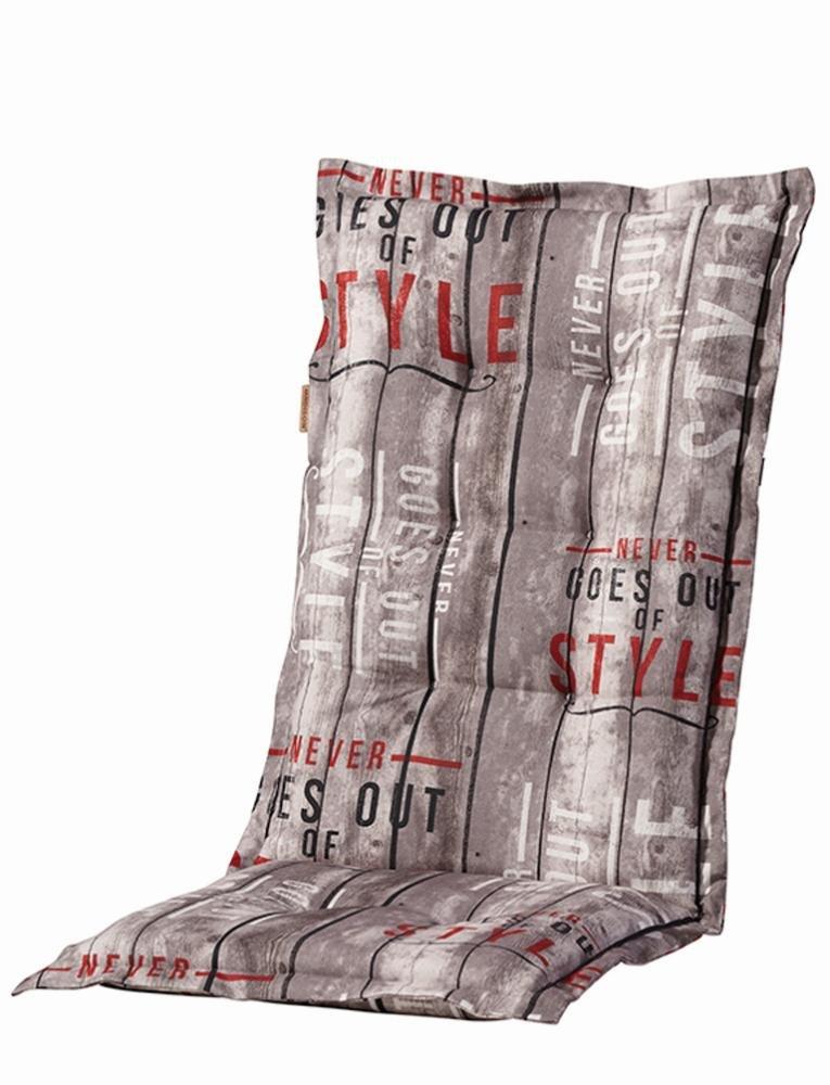 4 Stück MADISON Dessin Annabeth Sitzpolster für Klapppsessel, Stuhlauflage Hochlehner 75% Baumwolle, 25% Polyester, 123 x 50 x 8 cm