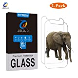 [2 Pack] 7 Inch Tablet Tempered Glass Screen Protector - JOLOJO Ultra Clear [2.5D Round Edge] High Response Anti-Shatter [Easy Application] Anti-Bibble Universal Screen Protector for 7