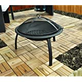Kingfisher Contemporary BBQ Fire Pit