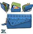 -ROYAL BLUE - Tribal-Urban Style Phone Case Walllet Clutch Motorola DROID RAZR MAXX HD Wrist-let + Bonus Ekatomi Screen Cleaner -ESMLUCBD-