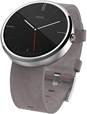 Motorola Moto 360 Montre connectée Android Wear pour appareil Android 4.3 et plus - Cuir Gris
