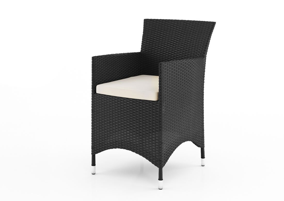 icasa gartenm bel sessel amanda in polyrattan schwarz. Black Bedroom Furniture Sets. Home Design Ideas