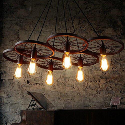 LINA-Europeo-americano contemporaneo soggiorno camera da letto sala da pranzo Lampadari in ferro ruota , 6