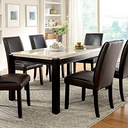 Gladstone Contemporary Style Dark Walnut Finish 5-Piece Dining Table Set