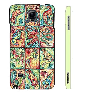 Samsung Galaxy Note 4 CHINESE ZODIACS designer mobile hard shell case by Enthopia