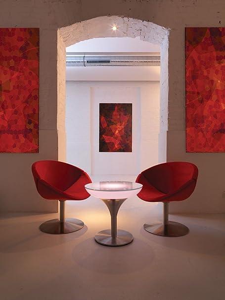 Mesa de centro de salón de M Moree, altura de 45 - 105 cm (LED de batería, 55 cm)