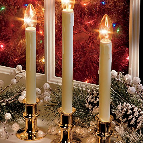Adjustable Battery Operated Window Led Candle-Set Of 2 - Bronze - Improvements