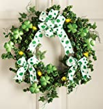 Lighted Shamrock Floral Wreath St. Patrick s Day Decoration Wreath