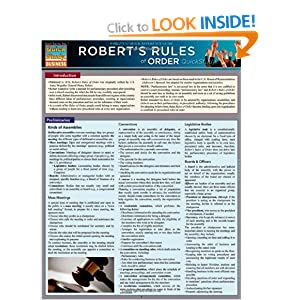 Robert'S Rules Of Order: Inc. BarCharts: 9781423216674: Books - Amazon ...