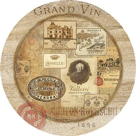 Thirstystone Nostalgic Wine Labels Coasters