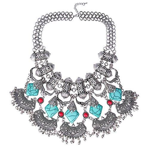 zhenhui-gypsy-bohemia-imitate-turquoise-statement-necklace-pendants-collar-choker-maxi-necklace-for-