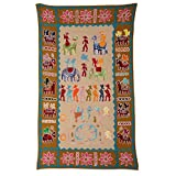Rajrang Home Décor Embroidered Patch Work Beige Wall Hanging - B00TQRKHYM
