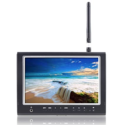 """LiLiPut 7"""" 664/W Moniteur De Champ FPV Sans Fil 5.8Ghz Récepteur HDMI1280*800"""