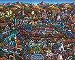 "Jigsaw Puzzle - Solvang ""Danish Village"" 1000 Pc By Dowdle Folk Art"
