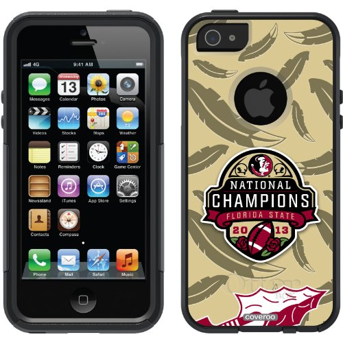 Great Sale Florida State 2013 BCS Champions Gold design on a Black OtterBox® Commuter Series® Case for iPhone 5s / 5