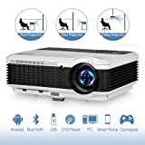 3900 Lumen LED LCD Bluetooth Projector Wireless HD 1080P Support HDMI Airplay APPS Netflix Youtube TV- Android Smart Home Theater Projector Outdoor Entertainment Karaoke (Color: Wxga/WiFi/ Bluetooth/3900lumen)